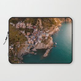 Aerial above Cinque Terre, Italy Laptop Sleeve