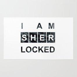 SHERLOCK I am Sherlocked Print Rug