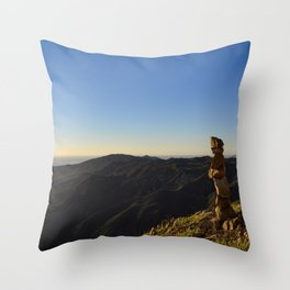 Island Meditation Throw Pillow