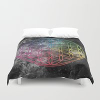 sacred geometry Duvet Covers featuring Sacred Geometry Universe 6 by Gaudy