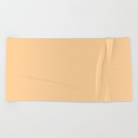 Simply Orange Sherbet Beach Towel