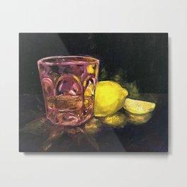 Whiskey sour bar art Metal Print