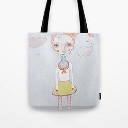 Cotton Candy Head in the Clouds Tote Bag
