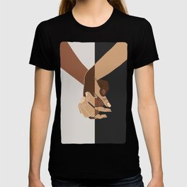 Tenderness against racism-Interlaced hands-Love without prejudice T-shirt