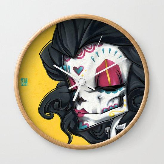 Madame Muerte PAINT Wall Clock
