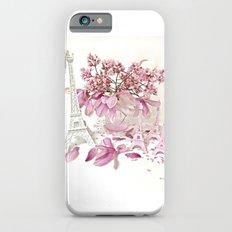 Pink Magnolia Spring Blossoms French Parisian Decor iPhone 6s Slim Case