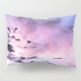 fly up to the blue pink sky Pillow Sham