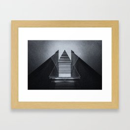 The Hotel (experimental futuristic architecture photo art in modern black & white) Framed Art Print
