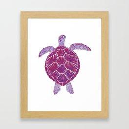 Magenta Sea Turtle Framed Art Print