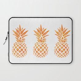 Orange Swirl Pineapples on White Laptop Sleeve