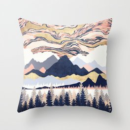 Winter's Sky Throw Pillow