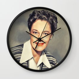 Anne Revere, Actress Wall Clock