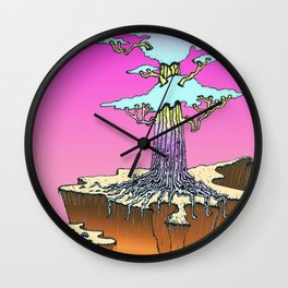 Acid Tree Wall Clock