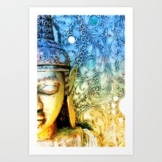 Faded Buddha Art Print