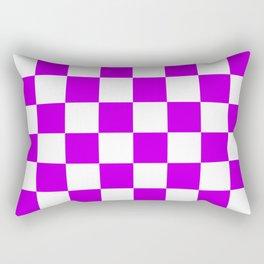 Cheerful Purple Checkerboard Pattern Rectangular Pillow