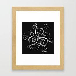Magic Mandala Twisted Triskele Framed Art Print