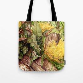 Honey Possum in Dryandra Tote Bag