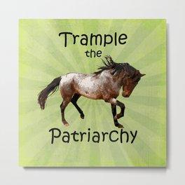 Trample the Patriarchy Metal Print