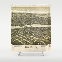 Aerial View of Oil City, Pennsylvania (1896) Shower Curtain
