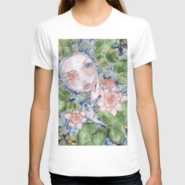 Watercolor doll in the water T-shirt