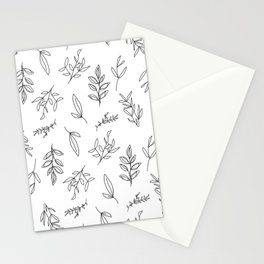 Falling Foliage - in black and white Stationery Cards