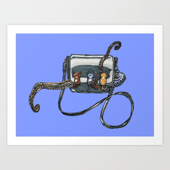 Purse Octopus Art Print by Rachel Hoffman - X-LARGE (s6-11842553p4a1v3) photo