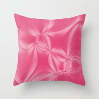 bow Throw Pillows featuring Bow by AlexinaRose