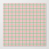 preppy Canvas Prints featuring Preppy Plaid by Laura