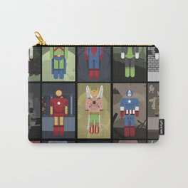 15 Superheroes Carry-All Pouch