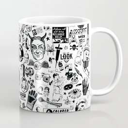 SATANIC PANIC! Vintage Clip Art Zine Style Collage Coffee Mug