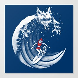 Little Red Surfing Hood Canvas Print