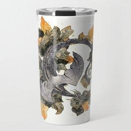 Dragon in Leaves Travel Mug