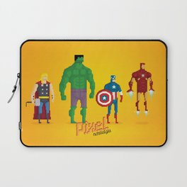 Super Heroes - Pixel Nostalgia Laptop Sleeve