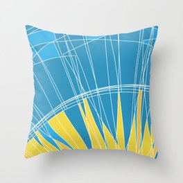 Abstract pattern, digital sunrise illustration Throw Pillow