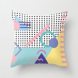 Memphis Pattern 5 - 80s - 90s - Retro Throw Pillow