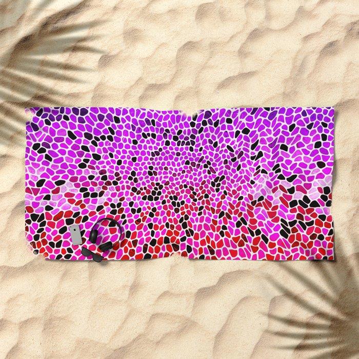 THINK LILAC CORAL Beach Towel
