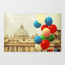 Festa in Vaticano Canvas Print