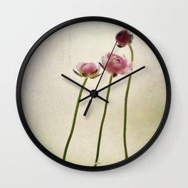 Ranunculus still life Wall Clock