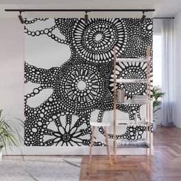 graphic dots pattern Wall Mural