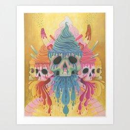 Sundae Skulls  Art Print