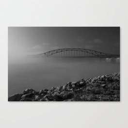 Julian Dubuque Bridge and the Mississippi River Canvas Print