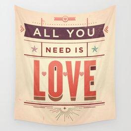 Love, love, love Wall Tapestry
