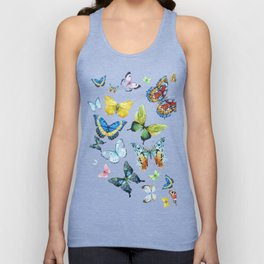 Butterflies 03 Unisex Tank Top
