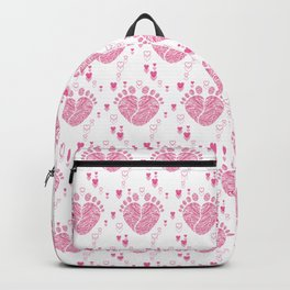 Baby feet background 9 Backpack