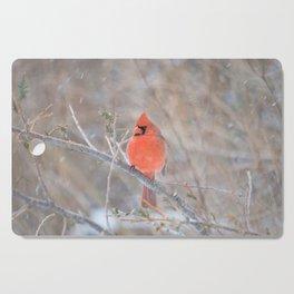 Fire in the Winter (Northern Cardinal) Cutting Board