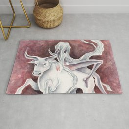All Aboard the S.S. Cow (Europa & Zeus) Rug