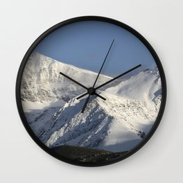 Hight snowy mountains. 3489 meters Wall Clock