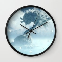 Frozen Tree at the lake Wall Clock