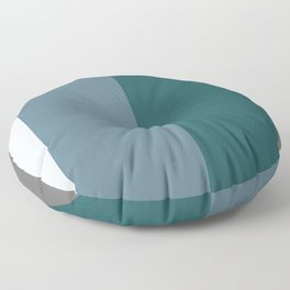 Parable to Behr Blueprint Color of the Year and Accent Colors Vertical Stripes 2 Floor Pillow