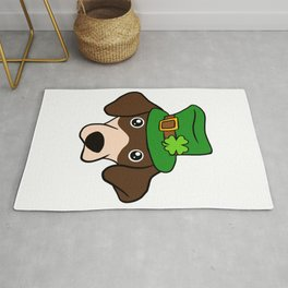 Leprechaun Dachshund- St. Patricks Day Rug